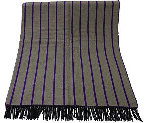 Rotfuchs Couverture Couverture en laine Couverture Couverture à carreaux Double face rayures beige violet 70% laine (mérinos) 30% polyacrylique