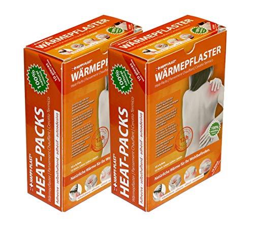 Happyplast® Wärmepflaster im 20er Set - dermatologisch getestet, selbstheizend & selbstklebend - 12 Stunden Wärmedauer - hilft bei andauernden Muskelverspannungen, Zerrungen oder Regelschmerzen