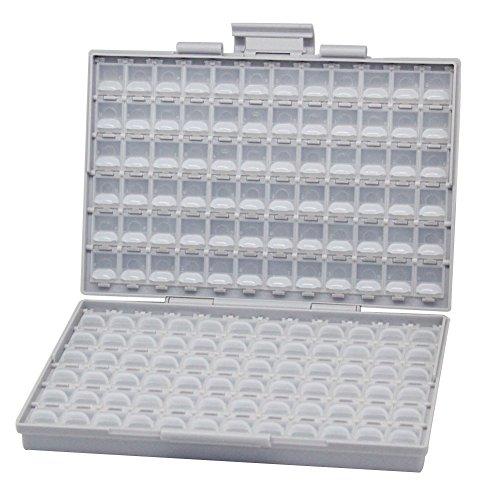 Caja de Almacenamiento de pl/ástico de Port/átil de Mano Tornillo electr/ónico componente Organizador Soporte con divisores Ajustables,Vario compartimentos 73
