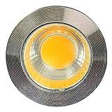 YEZIO Luz LED de maíz 4PCS Oscurecimiento COB Spotlight 5W 120V / 230V Mazorca Chip De Oblea Cabeza Proyector GU10 LED para la iluminación (Color : 110-130v, Size : Natural White 4000K)