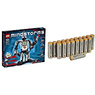 Build and program walking, talking and thinking robot toys that do anything you can imagine Includes EV3 Brick and three servo motors, plus colour, touch and IR sensors Pack of 20 AA Alkaline 1.5 Volt Batteries Improved anti-corrosion components and ...