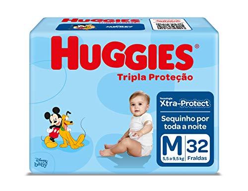 Fralda Huggies Tripla Proteção Jumbo M, 32 Fraldas