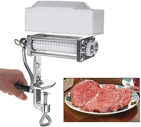 Commercial Manual Meat Tenderizer Cuber Kitchen Pork Beef Steak Flatten Tool Heavy Duty Clamp product image