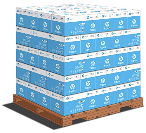 HP Printer Paper | 8.5 x 11 Paper | Office 20 lb | Quickpack Pallet - No Ream Wrap - 80 Cartons | 92 Bright | Made in USA | FSC Certified | 112103P