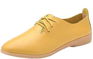 7168cd0f211c8 Amazon.co.uk: Yellow - Lace-Up Flats / Women's Shoes: Shoes & Bags