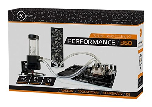 EK Water Blocks EK-KIT P360 Prozessor - Computer-Kühlmittel (Prozessor, 1 l, 13 x 10mm, 3 Lüfter, 1850 RPM, AMD A, AMD FX, Intel® Core™2 Duo, Intel® Core™ 2 Extreme, Intel® Core™2 Quad, Intel®.)