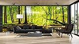 Oedim Fotomural Vinilo Adhesivo Bosque Primavera, Vinilo Adhesivo Decorativo para Habitaciones, decoración para Paredes.
