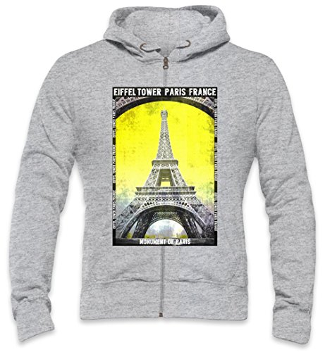 Eiffel Tower Paris France Mens Zipper Hoodie XX-Large