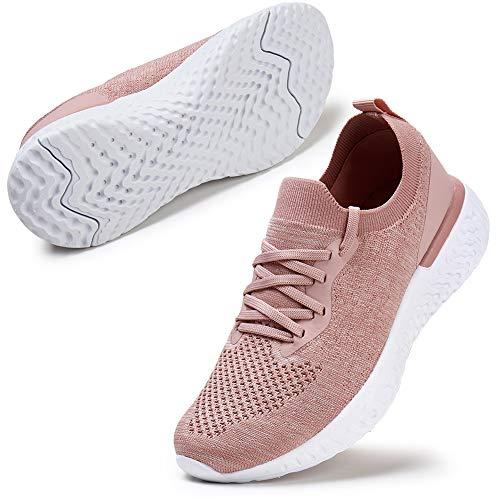 ZHR Sneaker Damen Atmungsaktiv Sportschuhe Leichte Trainer Schuhe Pink EU40