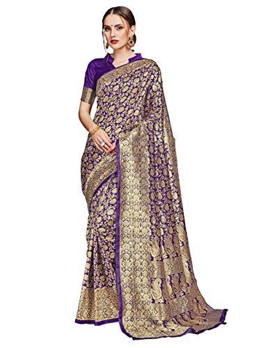 HAOK Sarees For Women's Banarasi Art Silk Indian Woven Sari | Sari...