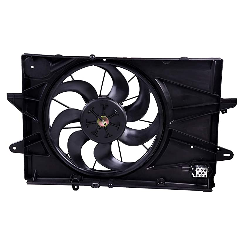 ECCPP AC Condenser Radiator Cooling Fan Replacement fit for 2010 2011 2012 2013 2014 2015 2016 2017 Chevrolet Equinox GMC Terrain GM3115239