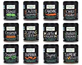 Frontier Co-Op Spice and Seasoning Set - Variety of 12 Spices and Seasonings - An Essential Spice Kit for all Kitchens - Includes an Original Bee The Bear Sticker - IT'S TIME TO SPICE THINGS UP!