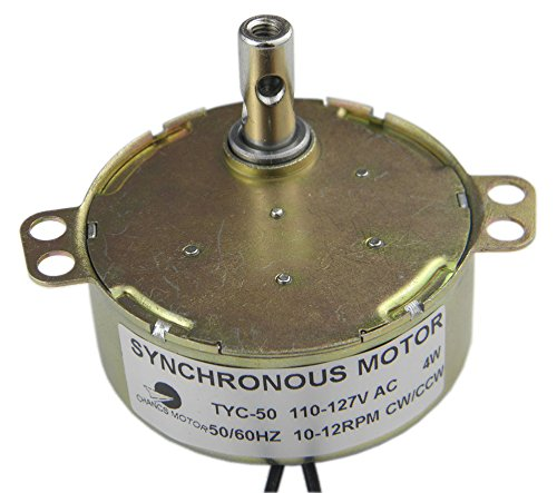 CHANCS TYC-50 10/12RPM CW/CCW Permanent Magnet Motor 110V AC Electric Synchron Motor