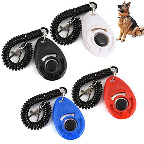 UEETEK 4 Stück Hund Clicker Training Clickers mit Handschlaufe