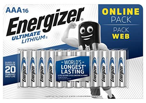 Energizer Batterie AAA, Ultimate Lithium, Confezione da 16