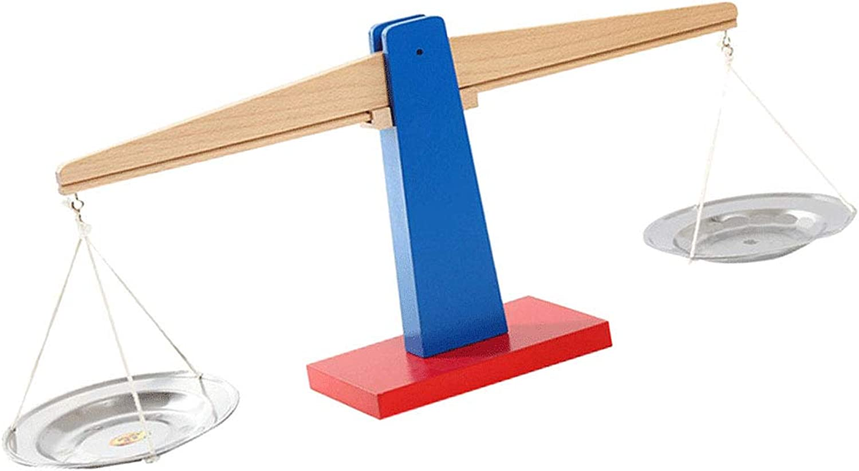 Baosity Creative Wooden Balance Scale Montessori for Baby Kindergarten Educational Toy