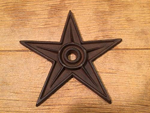 Cast Iron Center Hole Texas Star Rustic X-Large Decor 9' Wide 0170-02105