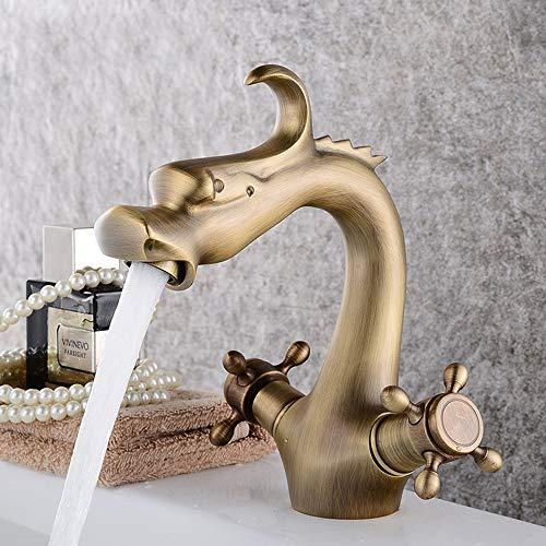 WANGXINQUAN Grifos de Cabeza de dragón Forma Cobre baño Lavabo Grifo Home...