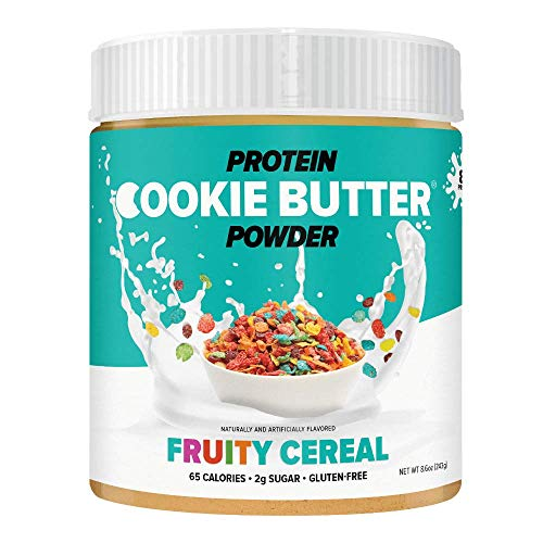 FDL - Keto Protein Powder Cookie Butter - Low Carb Food - Easy to Mix, Bake and Spread - 4g Net Carb - 8.6oz (Fruity Cereal)