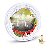 "HOMENOTE Misting Cooling System 59FT (18M) Misting Line + 16 Brass Mist Nozzles + a Metal Adapter(3/4"") Outdoor Mister Patio Garden Greenhouse Trampoline for Water Park"