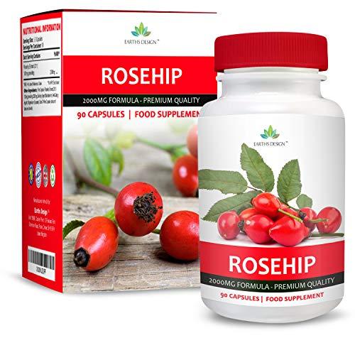 Rozenbottel Complex - Rozenbottel Poeder met hoge sterkte met vitamine C en citrusbioflavonoïden - 90 tabletten (levering van 3 maanden) door Earths Design