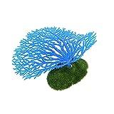 LaBeauté Coral delmkin arrecife de coral para acuario, decoración de acuario artificial (azul)