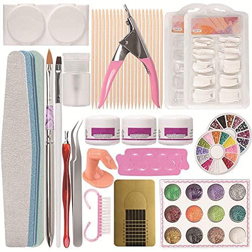 YLCS Nagelknipser Nagelkunst-Puder-Set, Maniküre-Set, Acryl-Glitzer-Puder, Nageldekoration, 3D-Nagelkunst-Werkzeuge für Acrylnägel (#1)