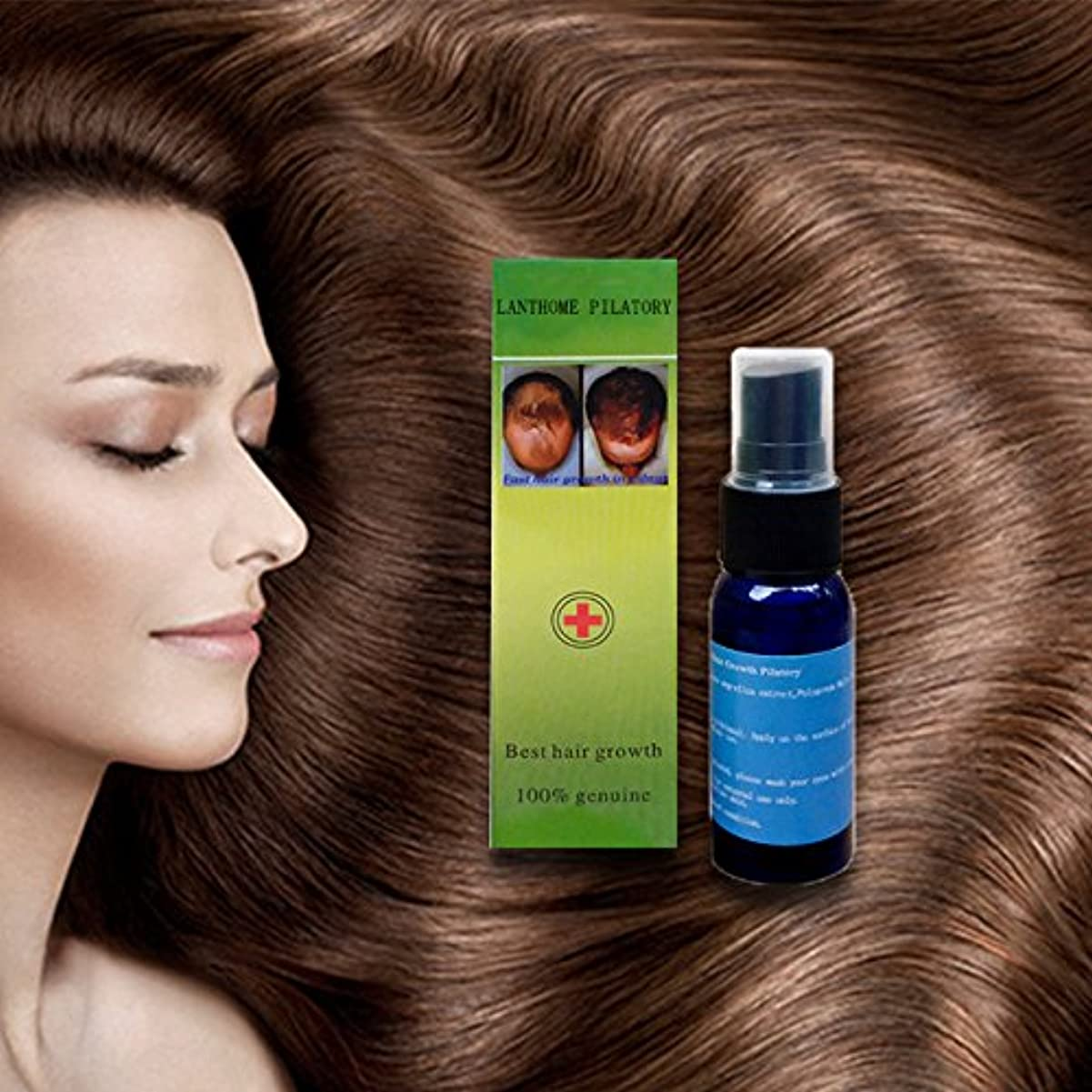 北米相互決して5ピースx 30ミリリットルラントーム高速育毛増粘剤エッセンス抗抜け毛治療液体再成長血清ユニセックス用男性と女性 (5Pcs X 30ML Lanthome Fast Hair Growth Thickener Essence Anti-Hair Loss Treatment Liquid Regrowth Serum Unisex For men and women)