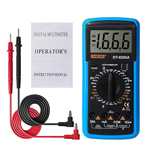Folewr-8 Digital Multimeter DT-9205A - Automatisch Tragbar LCD-Anzeige Multimeter Für Zuhause - Messen AC/DC, Widerstand, Dioden