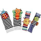 Junlucki Juguete portátil para Colgar Calcetines, Juguete Infantil para Colgar Calcetines, para bebés(A Set of Wristband Socks)