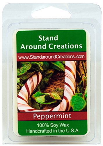 100% All Natural Soy Wax Melt Tart - Peppermint: Irresistible aroma with mint essential oil to create this fragrance. 3oz.
