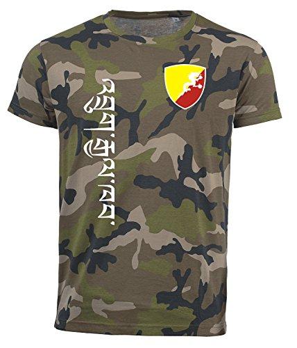 aprom Bhutan T-Shirt Camouflage Trikot Look Army Sp/A (2XL)