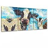 Decor MI Modern Blue Cow Painting on Canvas...