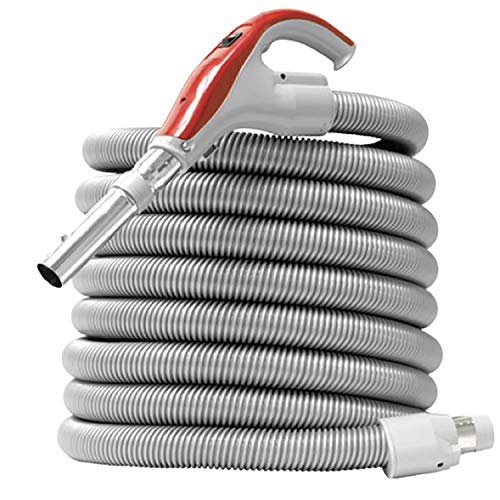 Nadair universal low-voltage hose for central vacuum, wall, 35ft swivel end-cuff, 35 ft, grey - accho-35lv-sw-gy