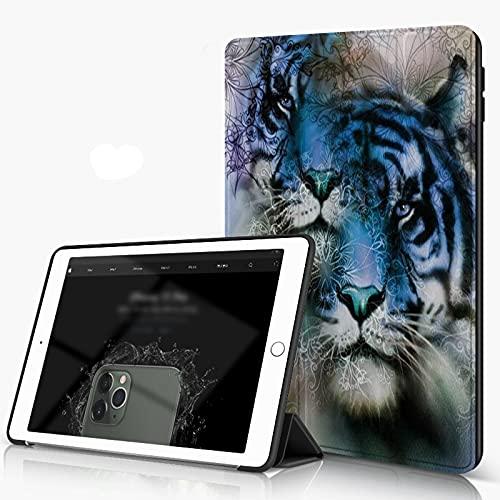 She Charm Carcasa para iPad 10.2 Inch, iPad Air 7.ª Generación,Animal 2 Tiger Safari Cat Wild Furious Life Grandes Animales Lámina,Incluye Soporte magnético y Funda para Dormir/Despertar