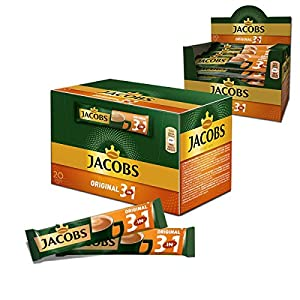 Jacobs 3in1 Café Instantáneo 100 Bolsitas Porciones Individuales Stock Fresco
