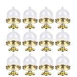 STOBOK 12 Stücke Kuchenglocke Muffinglocke Kuchenplatte mit Haube Käseglocke Kuchen Glasglocke Mini Tortenständer für Hochzeit Tischdeko Gastgeschenk Box Geburtstag Party Deko