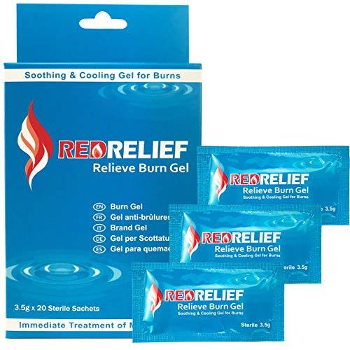 RedRelief Notfall-Brandgel 3.5G - Packung mit 20 Stück