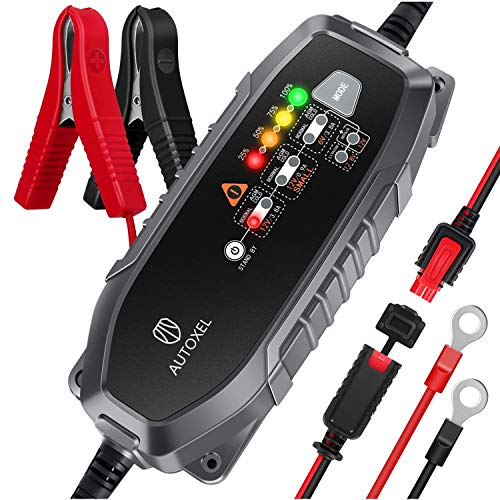 AUTOXEL Car Battery Charger and Maintainer 3.8A 6V 12V Intelligent...