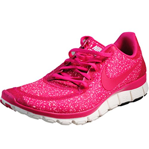 Womens Nike FREE 5.0 V4 Running Shoes Sail Pink Force