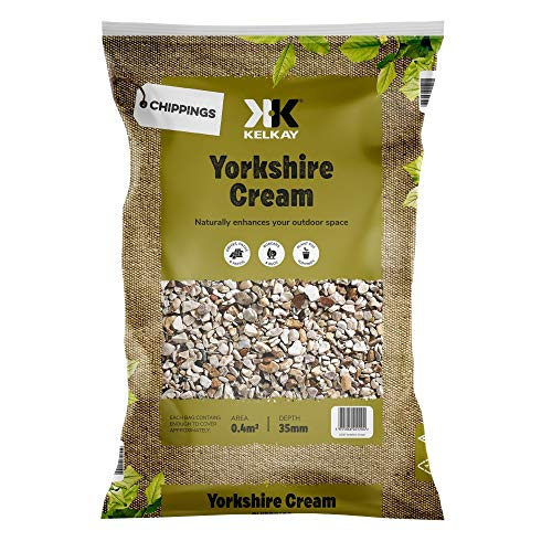 Decorative Aggregate Yorkshire Cream For Flowerbeds, Rockery, Paths, Driveways, Ground Cover, 1 x...