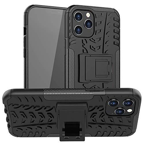 La funda de teléfono QIWANG es compatible con iPhone 6/7/8/X/XS, de silicona TPU de doble capa con soporte, carcasa rígida de policarbonato.