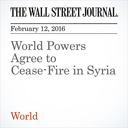 World Powers Agree to Cease-Fire in Syria audiobook cover art