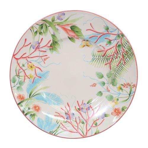 Faïencerie de Niderviller ~ Assiette Plate Fleur de Corail Ø27,5cm faïence - Lot de 4