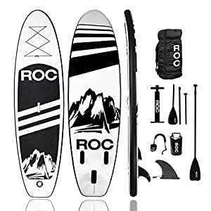 Roc's premium inflatable paddle board is made of the highest quality military grade material. We provide the most durable lightweight boards on the market using the same materials as boards costing twice as much. All boards come complete with everyth...