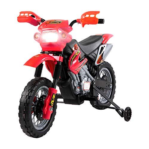 HOMCOM Moto Cross électrique Enfant 3 à 6 Ans 6 V phares klaxon...