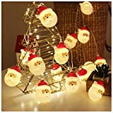 Christmas String Lights, Waterproof Battery Operated LED Christmas Lights for Xmas Tree Indoor Outdoor Decoration with 8 Flashing Modes, Christmas Ornaments Décor (Santa Claus, 10ft with 20 LEDs)