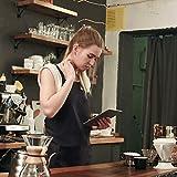 InnoGear 2 Stücke verstellbare Schürze mit 2 Taschen, Kochenschürze Küchenschürze für Küche, Restaurant, café (Schwarz 100% Baumwolle) - 2