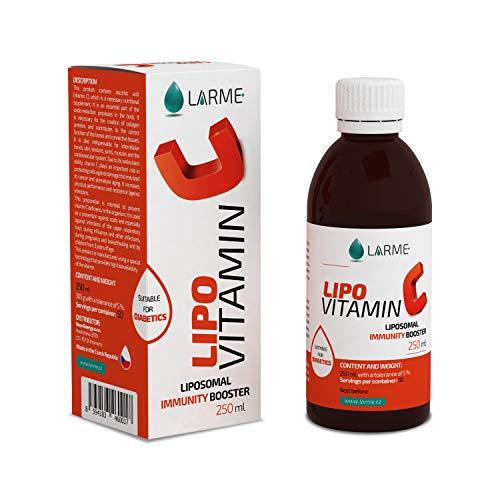 LIPOVITAMIN C® - LIPOSOMAL VITAMINA C Líquida de Alta Dosificación-1450mg por Porción-por 5ml! Altamente Concentrada para Máxima Eficacia. Garantiza Absorción y Biodisponibilidad Mayor