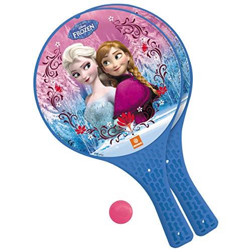 Mondo Toys - Disney Frozen II - 2 Racchette in plastica   pallina di gomma - Gioco da Spiaggia per Bambini e Adulti -15023